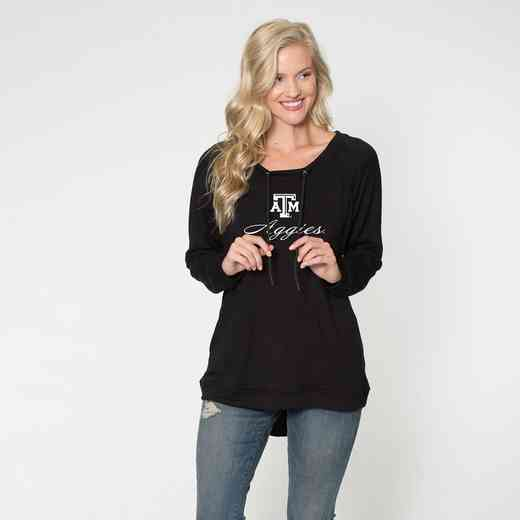Texas A&M -  Katie Key-hole cut-out back pullover by Flying Colors