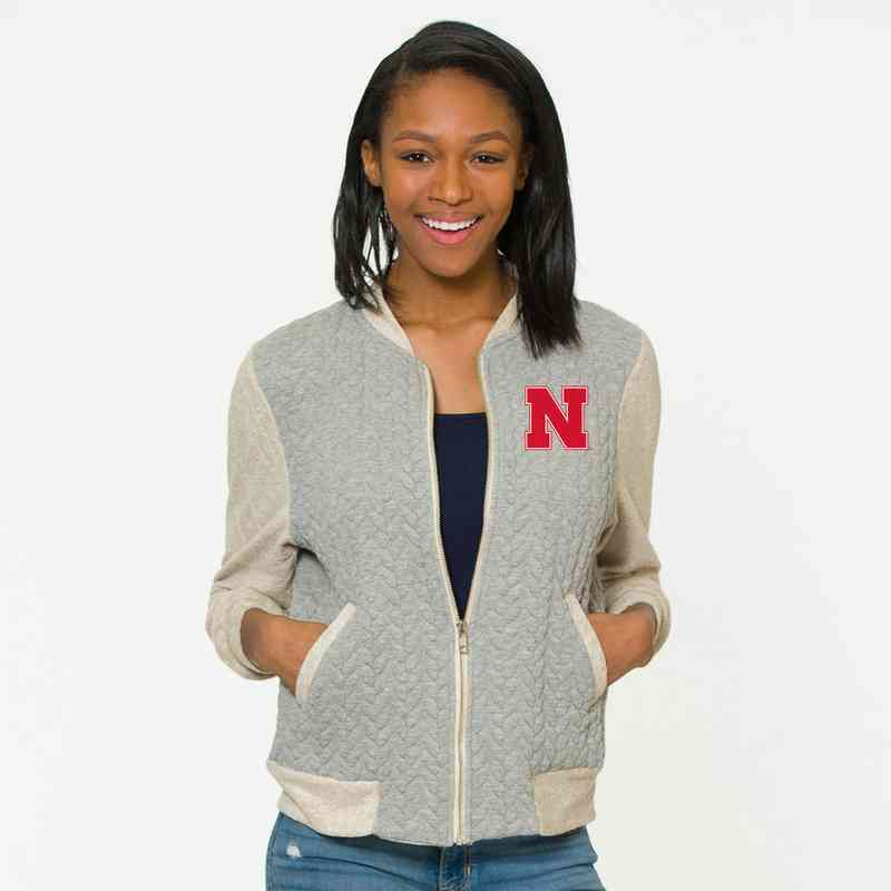 Nebraka   Roni Letterman Jacket by Flying Colors