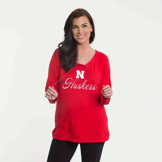 Nebraska - Katie Key-hole cut-out back pullover by Flying Colors