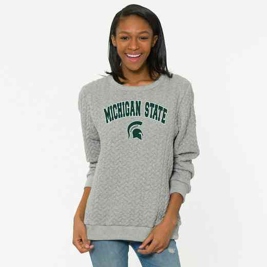 Michigan State  Jenny Braided Jacquard Crewneck Sweatshirt by Flying Colors