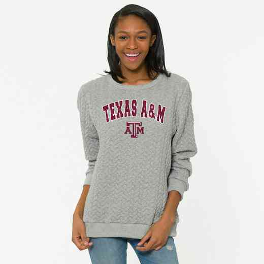 Texas A&M   Jenny Braided Jacquard Crewneck Sweatshirt by Flying Colors