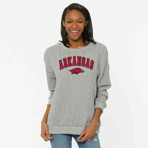 Arkansas   Jenny Braided Jacquard Crewneck Sweatshirt by Flying Colors