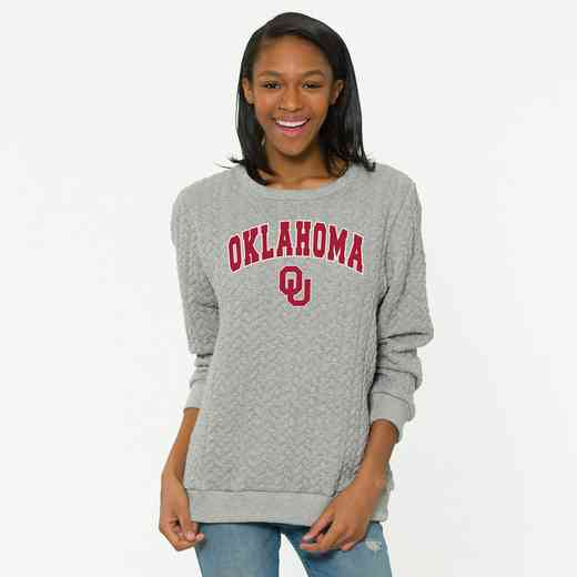 Oklahoma Jenny Braided Jacquard Crewneck Sweatshirt by Flying Colors