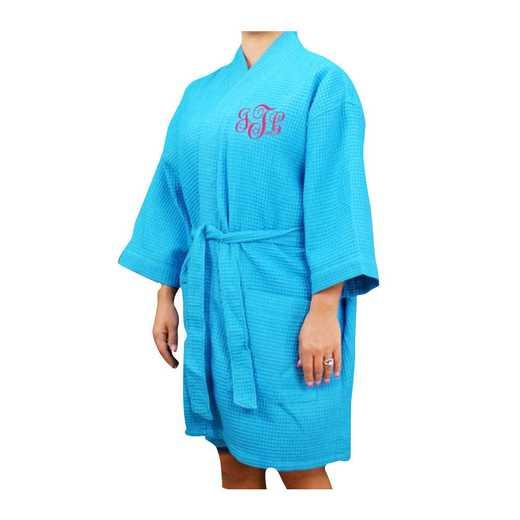 E7673128AQPKS: Monogram Robe AQUA