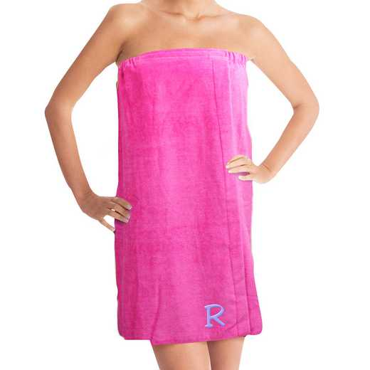 E3158145HPWHS: Embroidered Initial Spa Wrap Pink