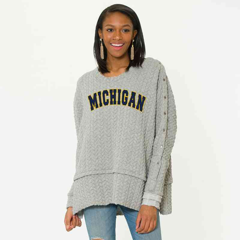 Michigan   Sasha Snap Sleeve Tunic by Flying Colors