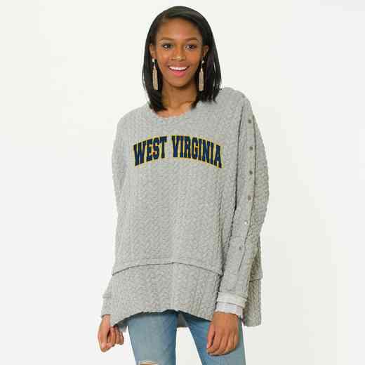 West Virginia Sasha Snap Sleeve Tunic by Flying Colors