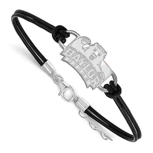 SS016BU-7: Baylor University Leather Bracelet
