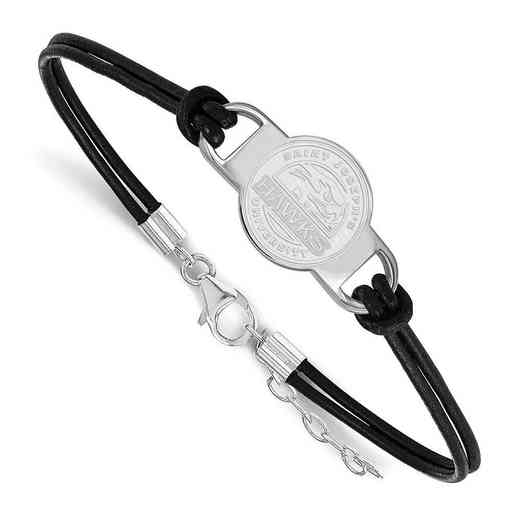 SS007SJO-7: St Joseph's University Leather Bracelet