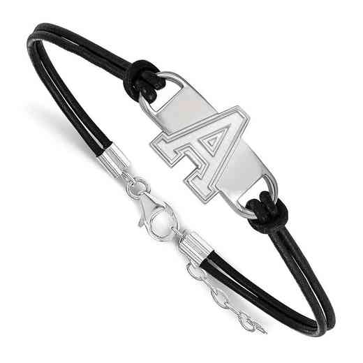 SS016USMA-7: U.S. Military Academy Leather Bracelet