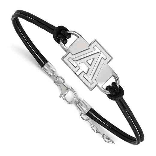 SS016UAZ-7: University of Arizona Leather Bracelet
