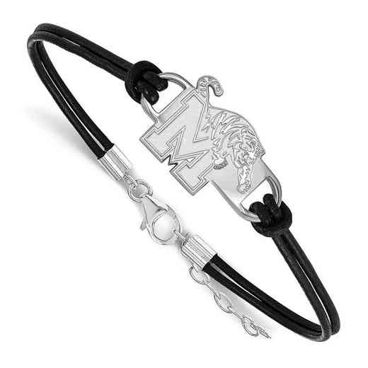 SS016UMP-7: University of Memphis Leather Bracelet