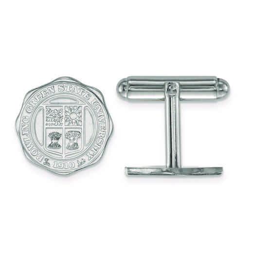 SS026BG: SS LogoArt Bowling Green State University Crest Cuff Link