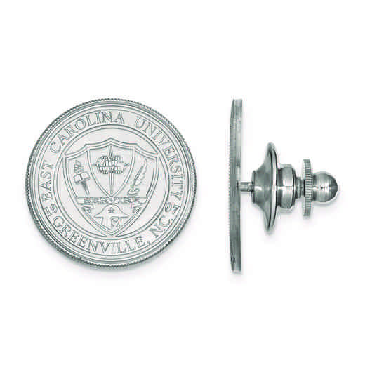 SS056ECU: SS LogoArt East Carolina University Crest Cuff Link