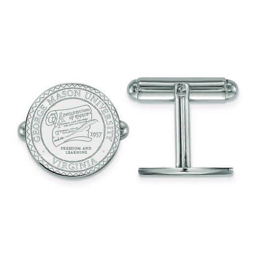 SS016GMU: SS LogoArt George Mason University Crest Cuff Link
