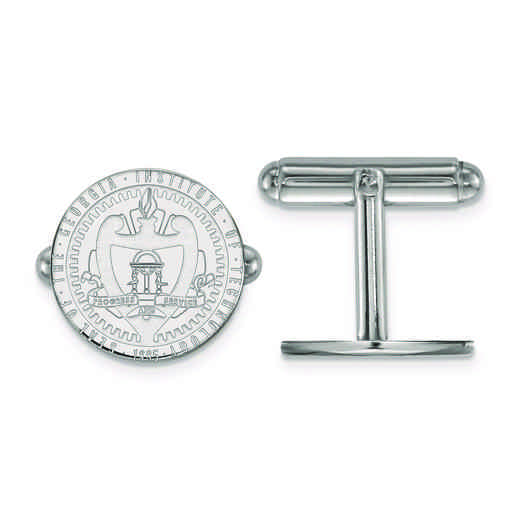 SS058GT: SS LogoArt Georgia Institute of Technology Crest Cuff Link
