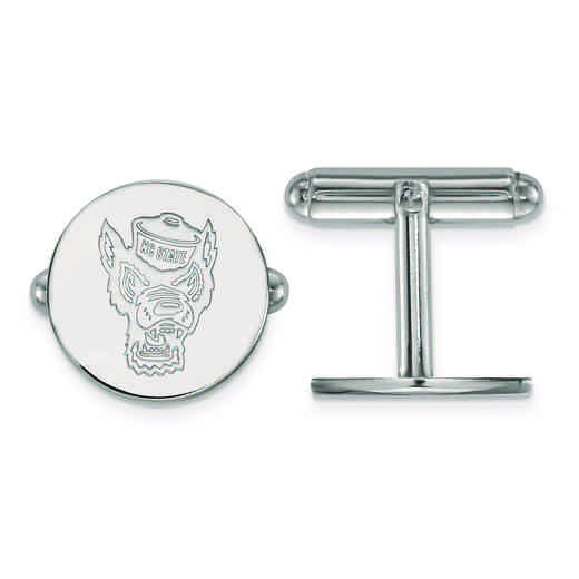 SS053NCS: SS LogoArt North Carolina State University Cuff Link