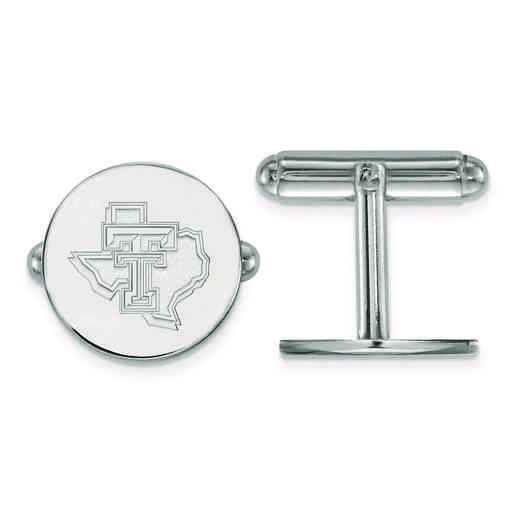 SS052TXT: SS LogoArt Texas Tech University Cuff Link