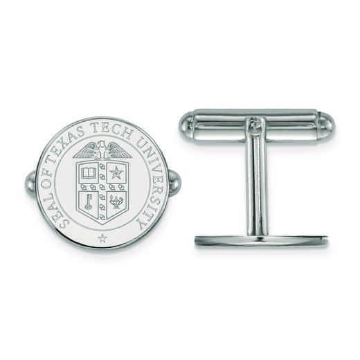 SS073TXT: SS LogoArt Texas Tech University Crest Cuff Link