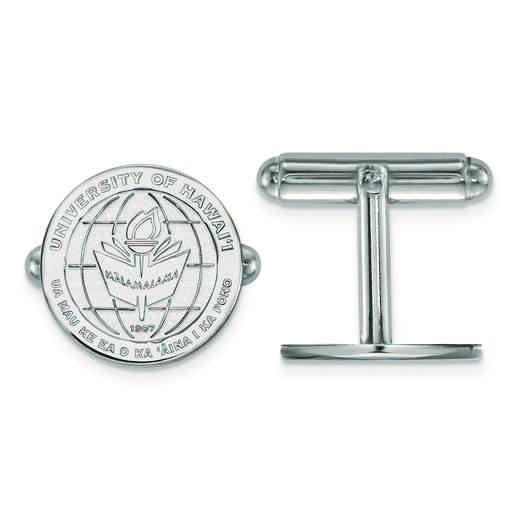 SS017UHI: SS LogoArt The University of Hawai'i Crest Cuff Link