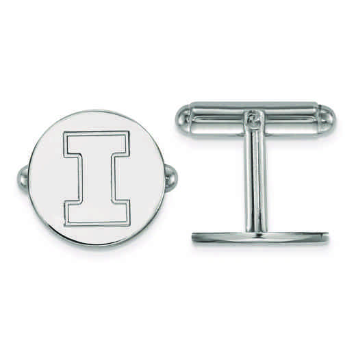 SS012UIL: SS LogoArt University of Illinois Cuff Link