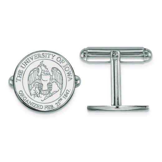 SS081UIA: SS LogoArt University of Iowa Crest Cuff Link