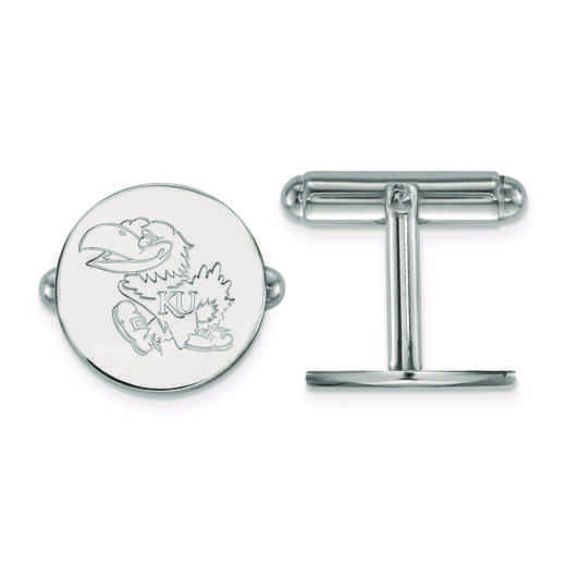 SS073UKS: SS LogoArt University of Kansas Cuff Link