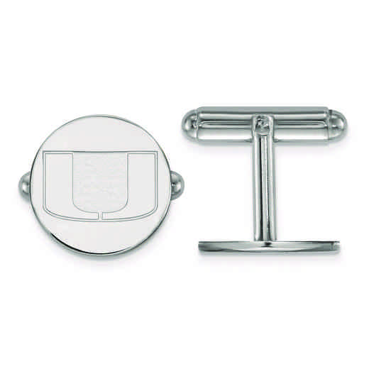 SS012UMF: SS LogoArt University of Miami Cuff Link