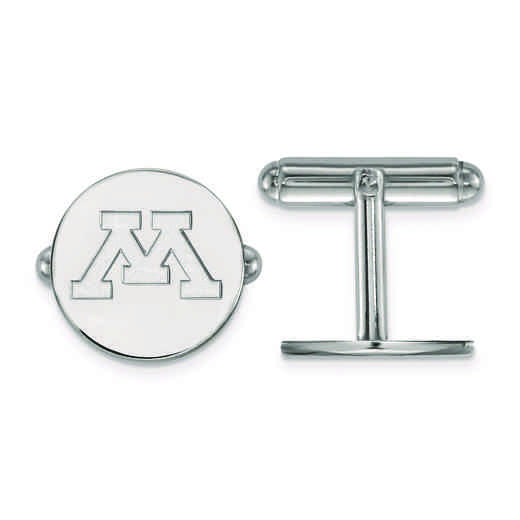 SS010UMN: SS LogoArt University of Minnesota Cuff Link