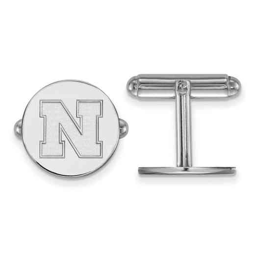 SS086UNE: SS LogoArt University of Nebraska Cuff Links