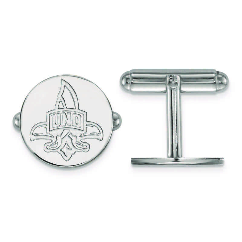SS008UNO: SS LogoArt University of New Orleans Cuff Link