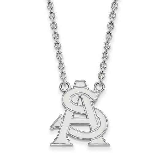 SS033AZS-18: SS LogoArt Arizona St Univ LG Pendant w/Necklace