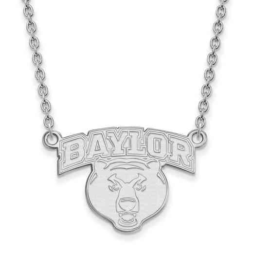 SS031BU-18: SS LogoArt Baylor Univ LG Pendant w/Necklace