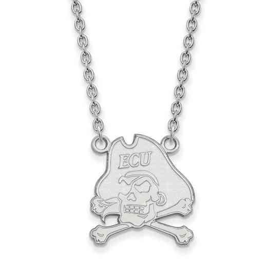 SS012ECU-18: SS LogoArt East Carolina Univ LG Pendant w/Necklace