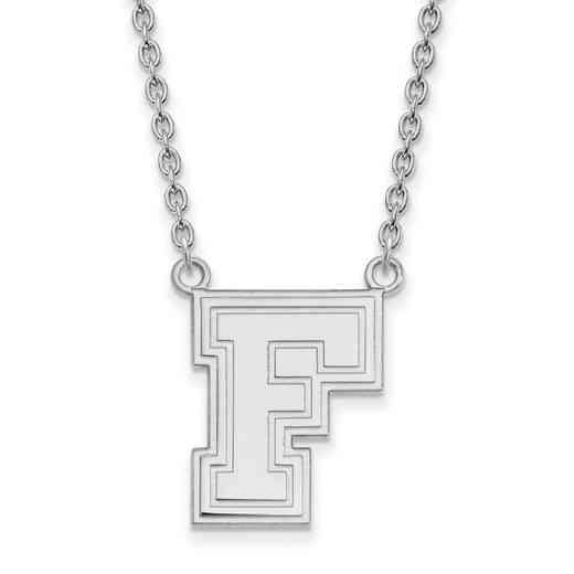 SS008FOU-18: SS LogoArt Fordham Univ LG Pendant w/Necklace