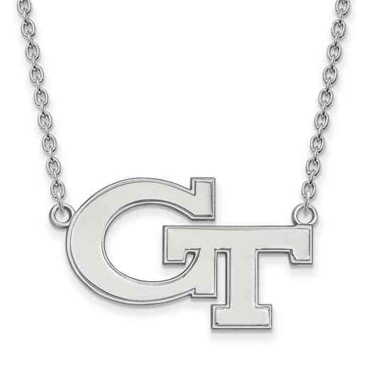 SS010GT-18: SS LogoArt Georgia Institute of Tech LG Pendant w/Necklace