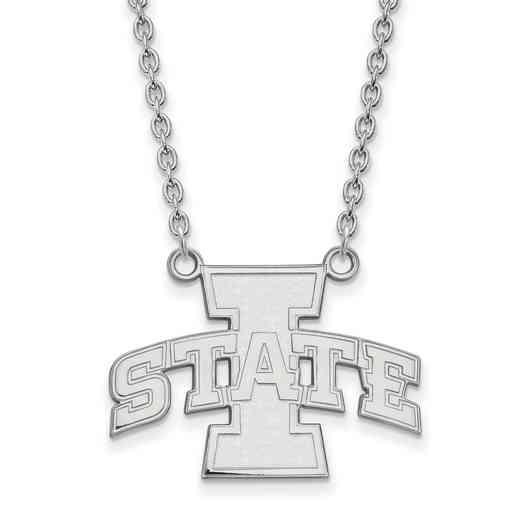 SS007IAS-18: SS LogoArt Iowa St Univ LG Pendant w/Necklace