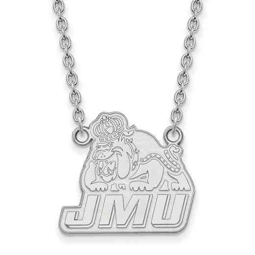 SS006JMU-18: SS LogoArt James Madison Univ LG Pendant w/Necklace