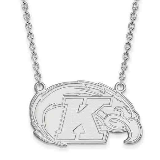 SS009KEN-18: SS LogoArt Kent St Univ LG Pendant w/Necklace