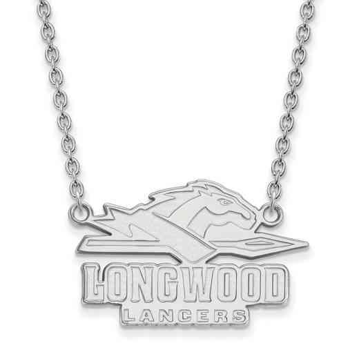 SS010LOC-18: SS LogoArt Longwood Univ LG Enamel Pendant w/Necklace