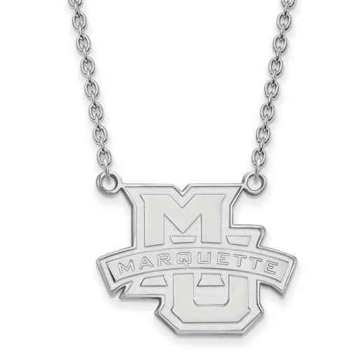 SS008MAR-18: SS LogoArt Marquette Univ LG Pendant w/Necklace