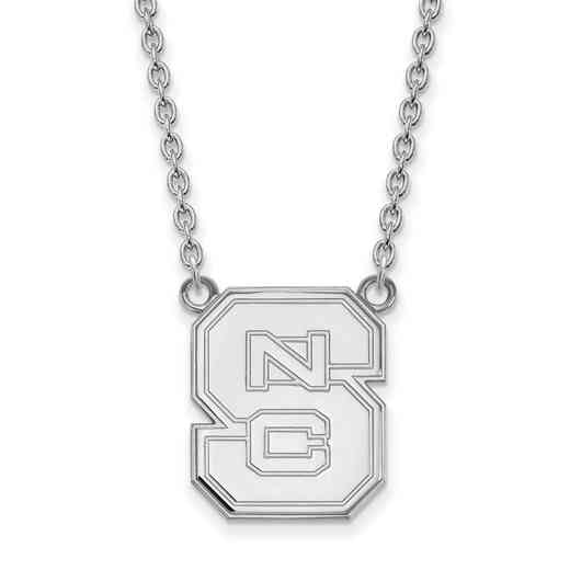 SS016NCS-18: SS LogoArt North Carolina St U LG Pendant w/Necklace