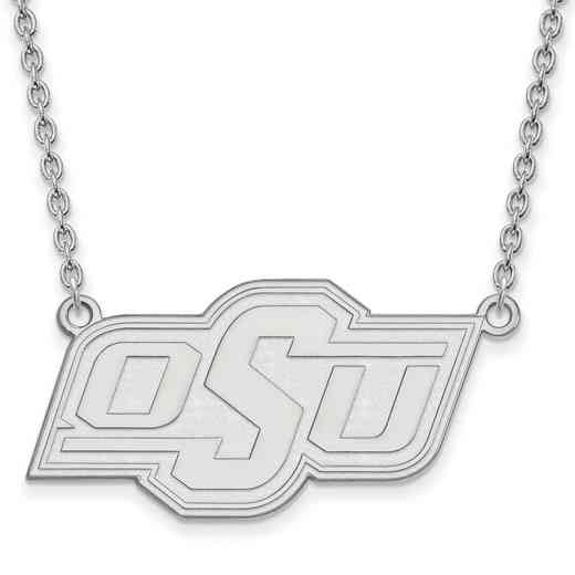 SS015OKS-18: SS LogoArt Oklahoma St Univ LG Pendant w/Necklace
