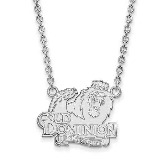 SS012ODU-18: SS LogoArt Old Dominion Univ LG Pendant w/Necklace