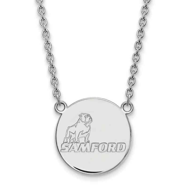 SS008SMF-18: SS LogoArt Samford Univ LG Pendant w/Necklace