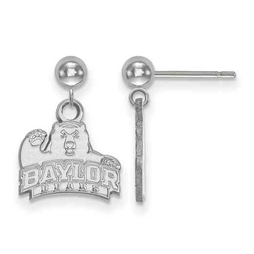 SS009BU: SS LogoArt Baylor Univ Earrings Dangle Ball
