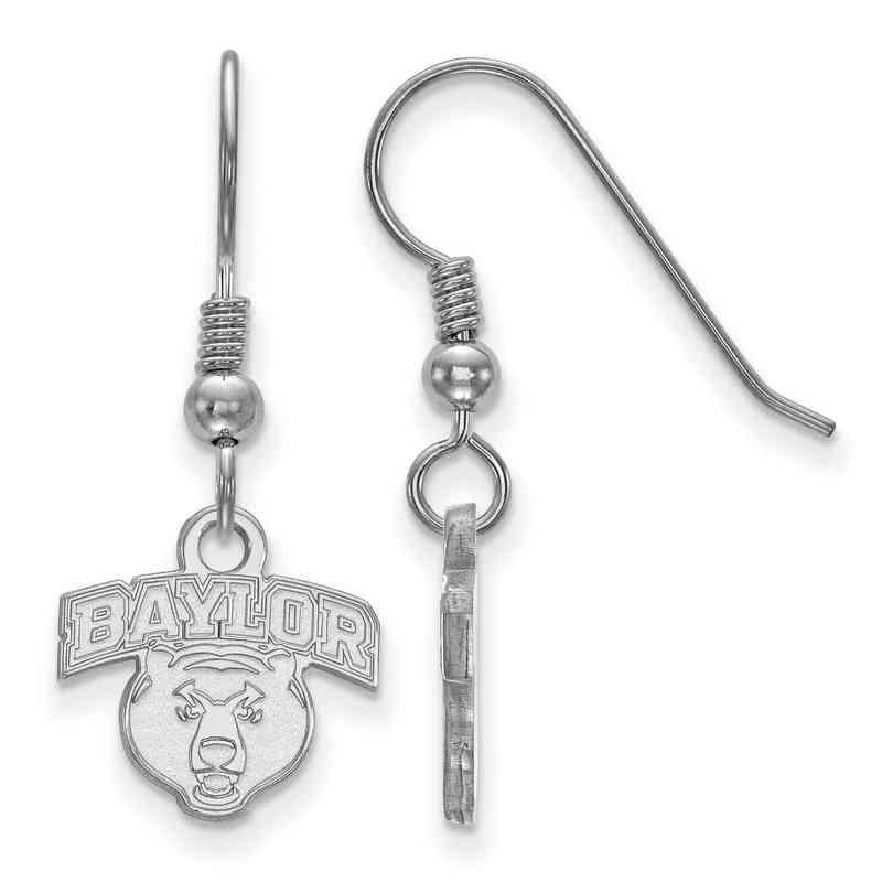 SS026BU: SS LogoArt Baylor Univ XS Dangle Earrings