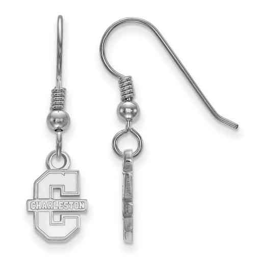 SS005CHC: SS LogoArt College of Charleston XS Dangle Earrings