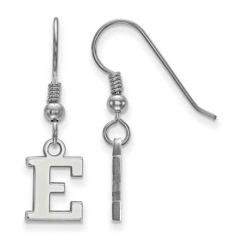 SS005EMU: SS LogoArt Eastern Michigan Univ XS Dangle Earrings