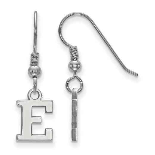 SS005EMU: SS LogoArt Eastern Michigan Univ XS Dangle Earrings